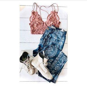 Madewell Bralette & Jeans, Vans